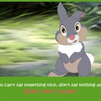 If you can't say something nice, say nothing at all! Really?